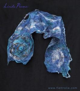 bufanda de lana y fibras