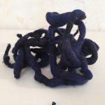 Escultura flexible de lana