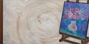 pintura con lana