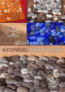 piedras de lana , alfombra de fieltro