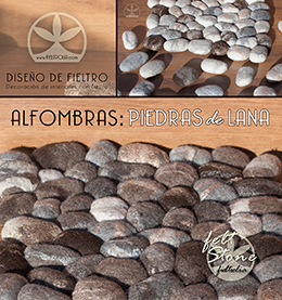 Piedras de lana, Alfombras de fieltro.