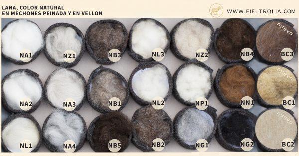 lana de colores naturales para hacer fieltro