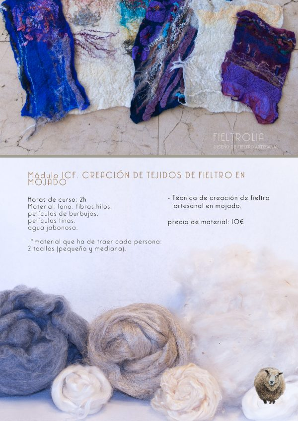 afieltrado de lana