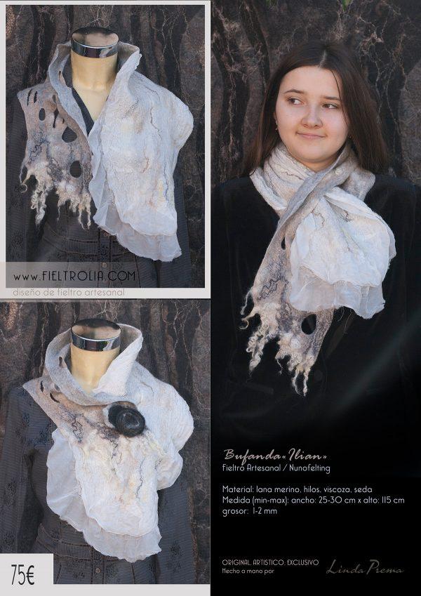 bufanda de fieltro artesanal